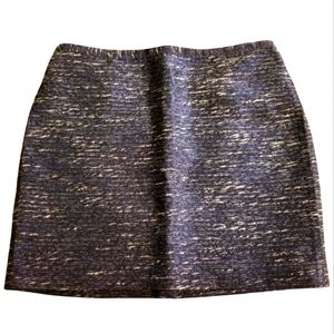 MADEWELL Mini Tweed Skirt Courtyard Shimmerweave 6